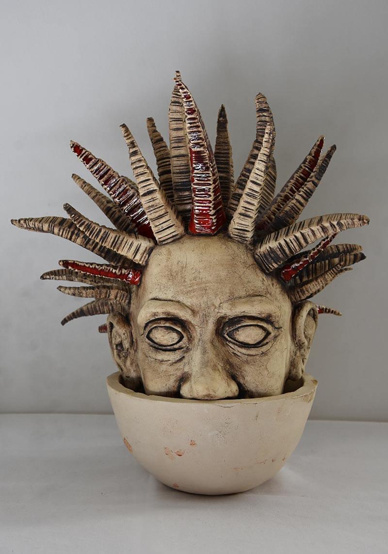 Keramikkopf: über den Tellerrand blicken