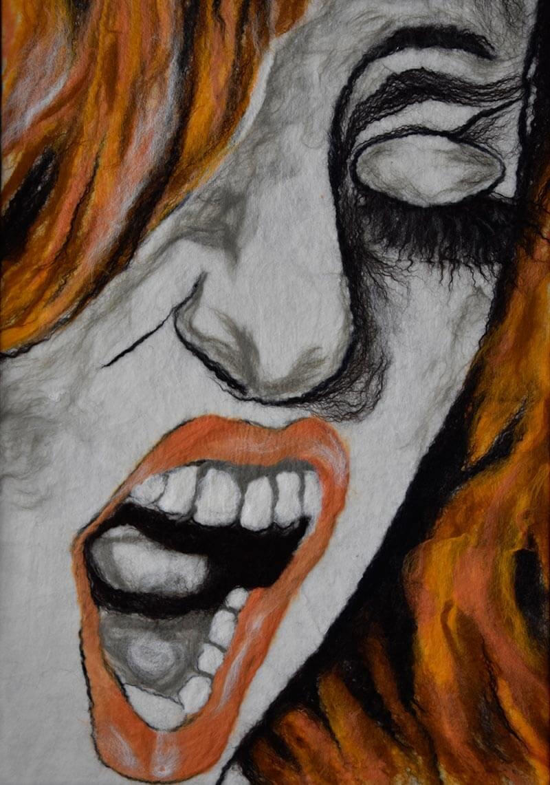 Portrait aus Filz