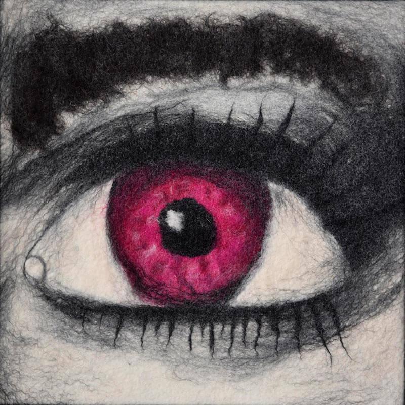 Nassfilzen einer Fläche: Auge