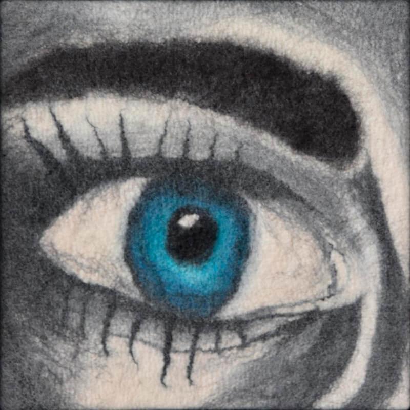 Filzportrait: Auge