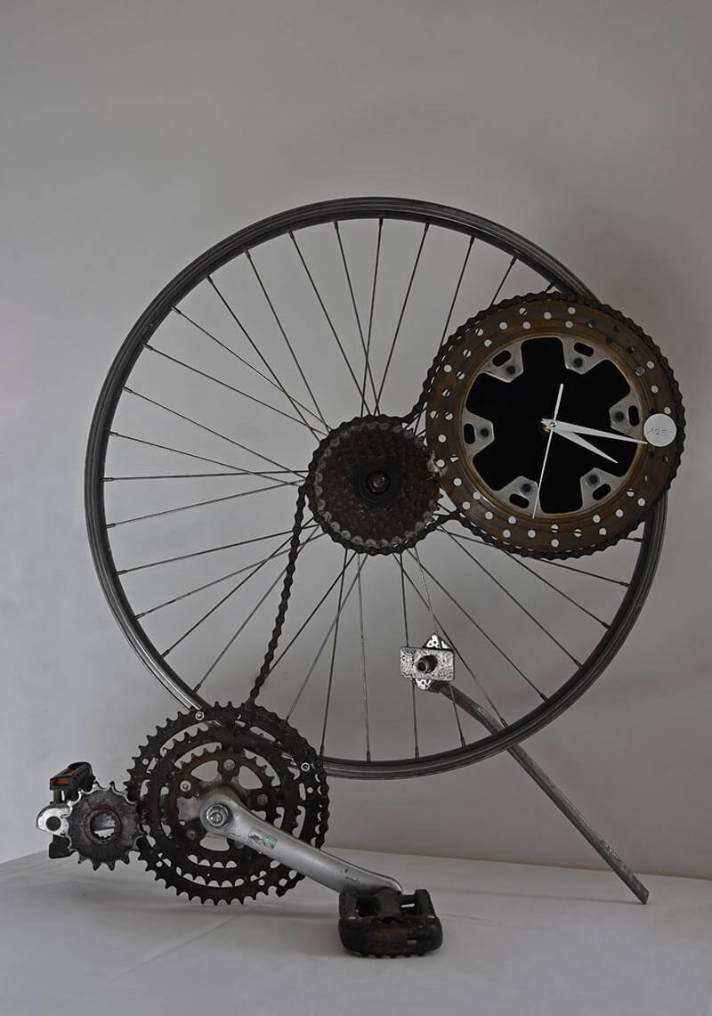 Upcycling: Uhr aus dem Fahrrad meiner Jugend