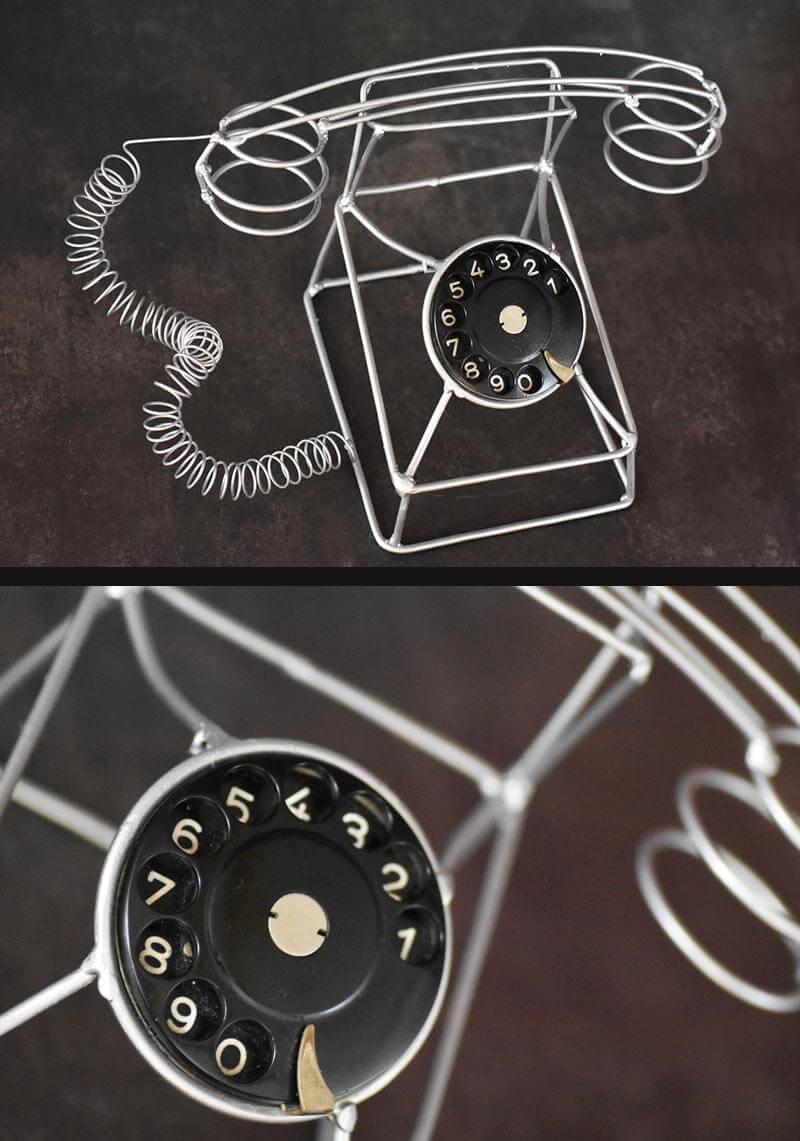 Serie Vergänglichkeit: Telefon mit Wählscheibe